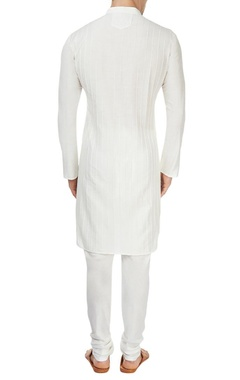 white pintuck kurta & churidar