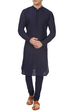 navy blue kurta & churidar