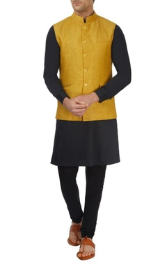mustard yellow bandi jacket