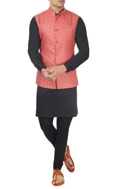 Salmon pink bandi jacket