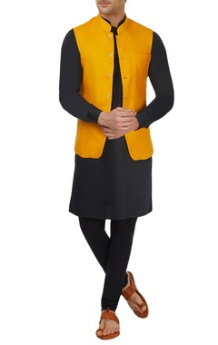 mango yellow bandi jacket