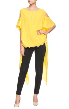 Yellow asymmetric tunic