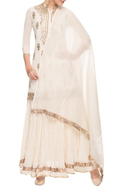 Cream gota patti kurta set