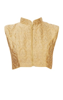 Gold paisley blouse