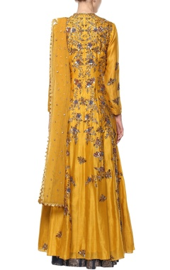 yellow & blue kurta set