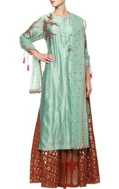 Joy Mitra Mint lehenga set