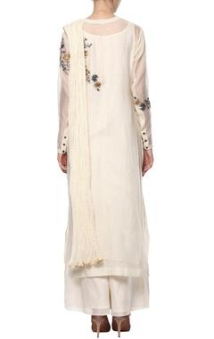 Cream embroidered kurta set