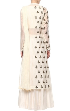Off-white kurta & sharara set