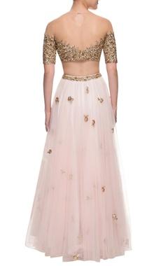 Gold & blush pink lehenga set