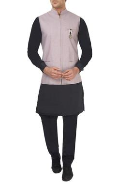 Pink printed cotton waistcoat