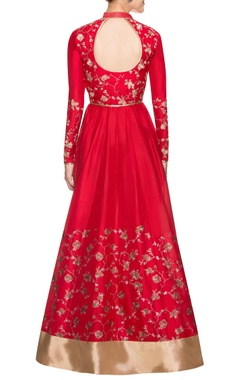 Red anarkali set