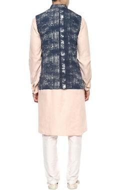 Blue ethnic sleeveless jacket