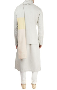 Light grey textured kurta set