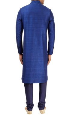 Royal blue sherwani set