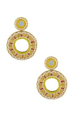 Gold & yellow hoop earrings