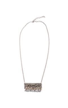 silver studded long neklace
