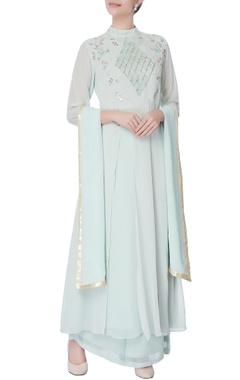 powder blue thread kurta & palazzo set