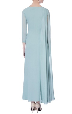 Light blue draped layer kurta