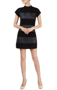 Black alternate paneled dress