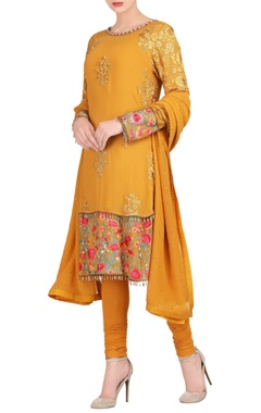 Varun Bahl Mustard yellow kurta set