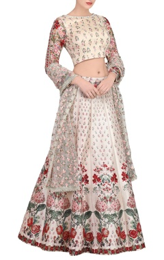 Blush pink floral embroidered lehenga set