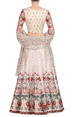 blush pink floral embroidered lehenga set