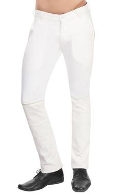 White slim fit pants
