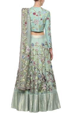 Mint blue Lehenga Set