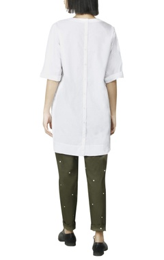 White back placket top