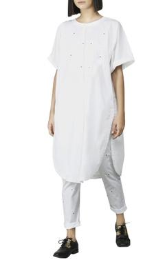 White paneled kurti