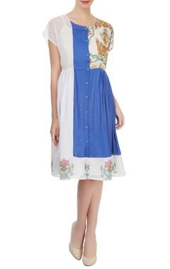 Multi-colored digital printed dress