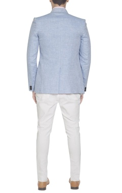 Pastel blue linen blazer