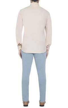 cream embroidered shirt