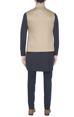 Beige gold printed waistcoat