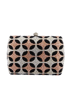 Multi-colored studded box clutch