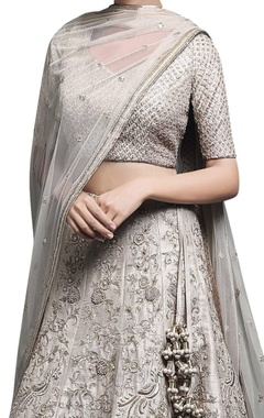 Ivory beige embroidered lehenga set