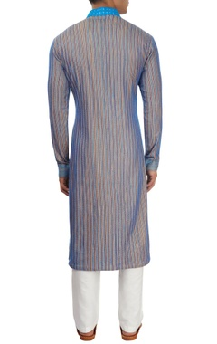 Blue thread work kurta set
