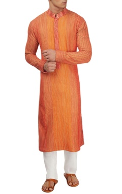 Red thread work kurta set