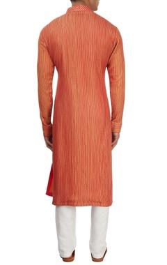 Red thread work kurta set
