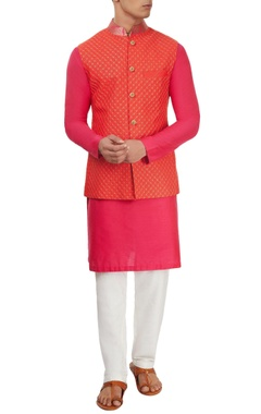 Pink & red kurta set