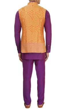 Purple kurta set