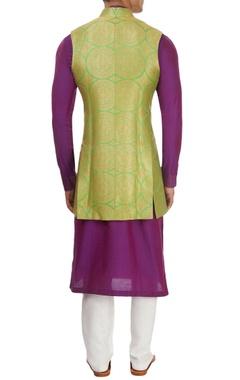 Purple & green kurta set