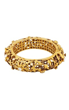 Gold filigree work bracelet
