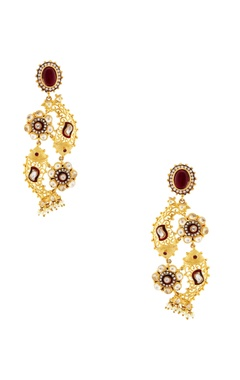Rohita Gold earrings with fish motif