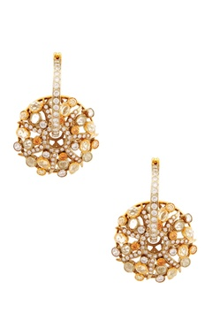 Rohita Gold finish bali style earrings