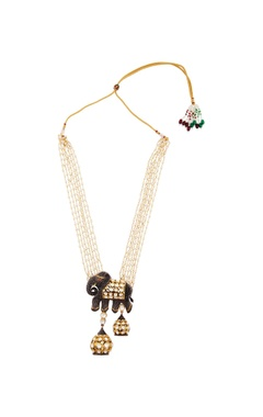 Gold necklace with elephant pendant