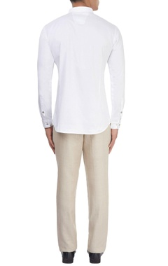 white shirt with printed detail
