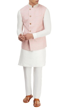 Light pink embroidered jacket