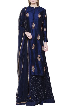 midnight blue lehenga set enhanced