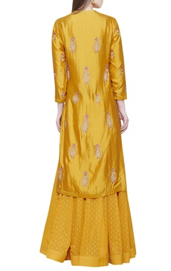 yellow lehenga set with kurta
